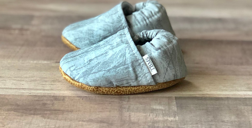 Slate Gray Cracked Ice Moccasins