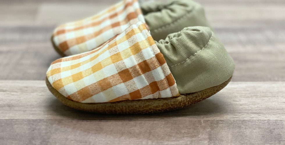 Orange Harvest Plaid Moccasins