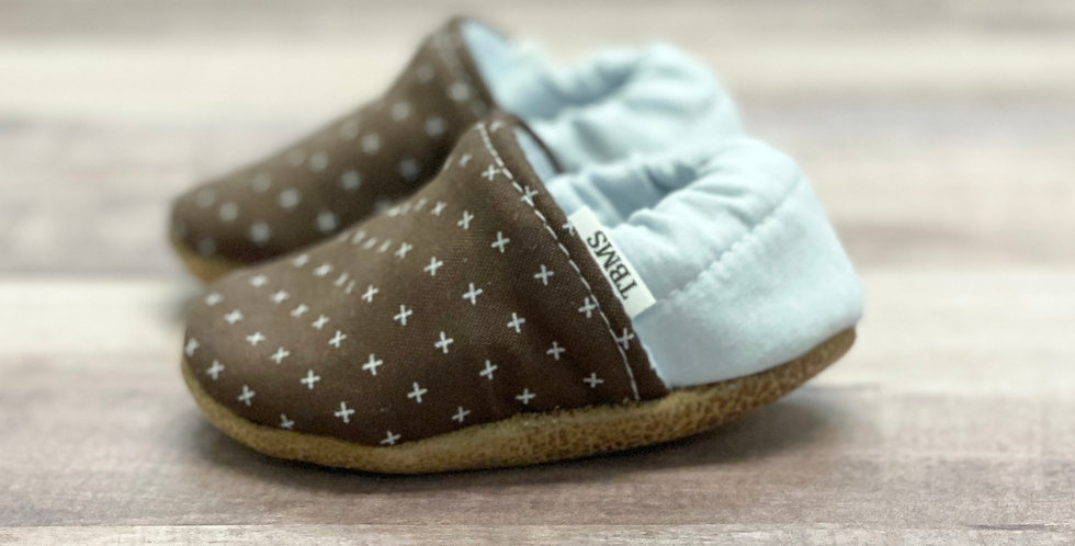 Brown Swiss Cross Moccasins