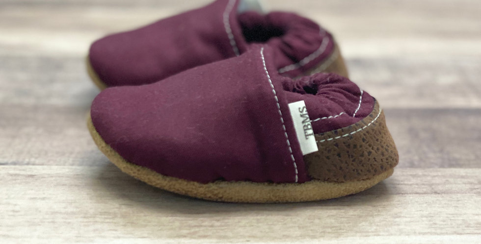 Purple with Brown Moccasins