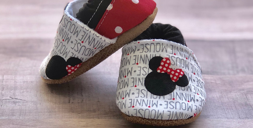 Minnie Mouse Moccasins