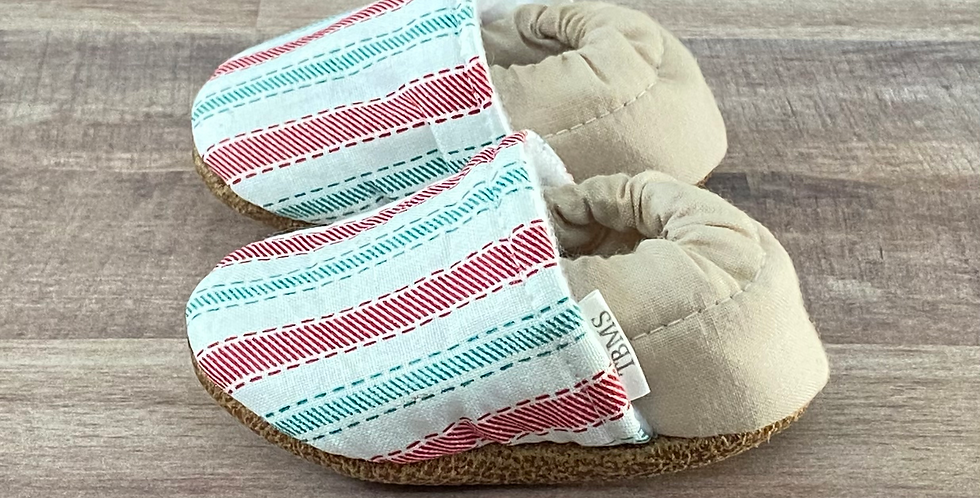 Holiday Stripes Moccasins