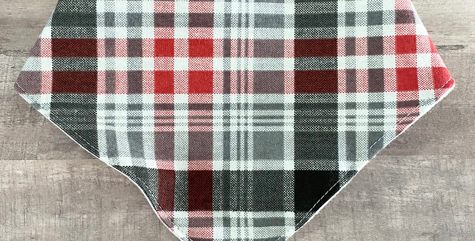 Red Plaid Bibdana