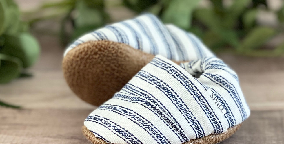 Blue Stripes Angled Moccasins