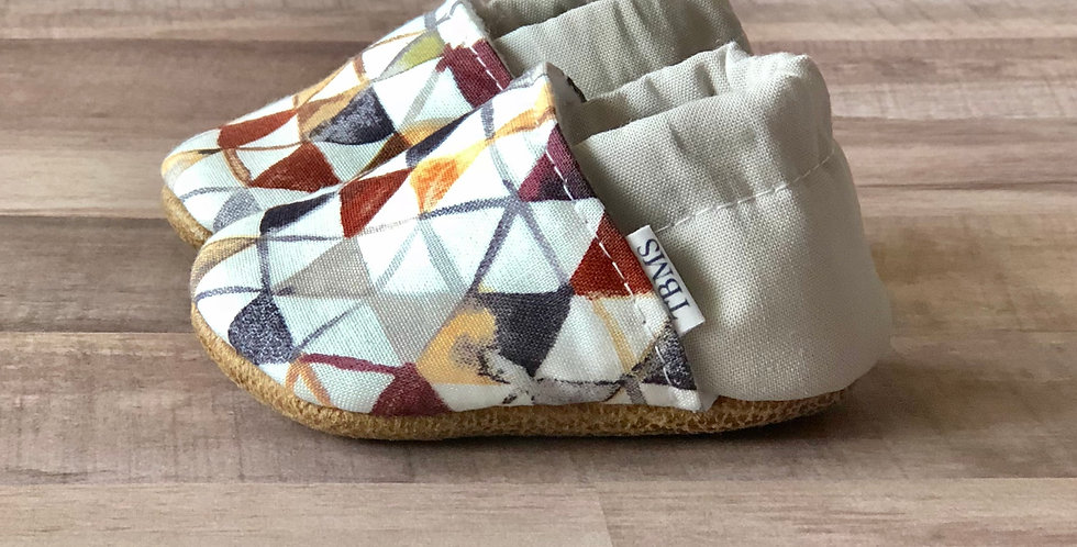Modern Neutral Triangles Moccasins