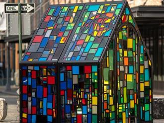 Mosaico de cores e luz