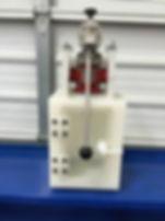 hot air welded PTFE sample box Reichter valve