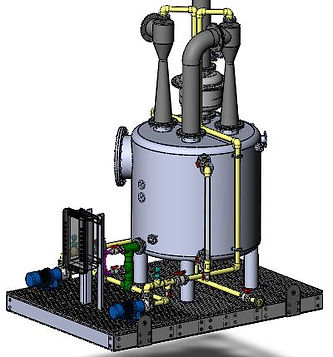 custom designed venturi style scrubber designed for continious operation frp CPVC automated