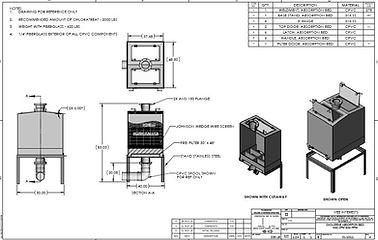 Carbon bed general arrangement absorption apsorbtion