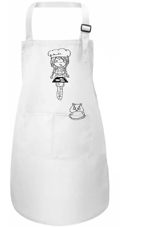 Schürze Cookie Bäckerin Hanna + Maprom Textilmalstifte