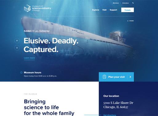 色使いが参考になる、最新のウェブデザインを取り入れた「博物館」のホームページ