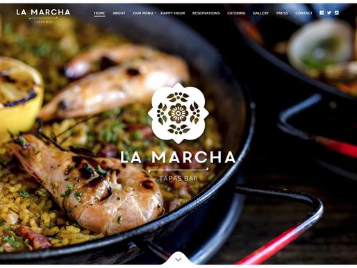料理の写真をダイナミックに使った飲食店ホームページデザイン