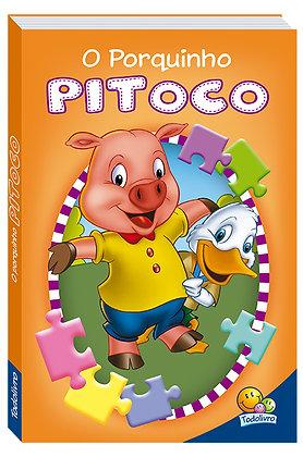 Animais da fazenda em quebra-cabeças: O porquinho pitoco