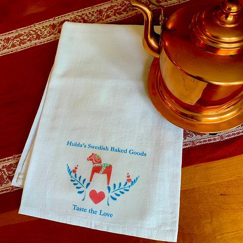 Hulda's Flour Sack Dish Towel (Taste the Love)