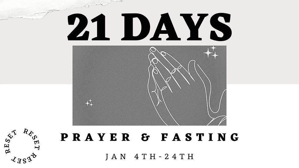 21 Days of Prayer & Fasting 2021 - Slide