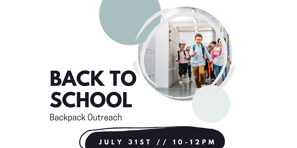 Back to School : Back Pack Outreach (Blackstone)
