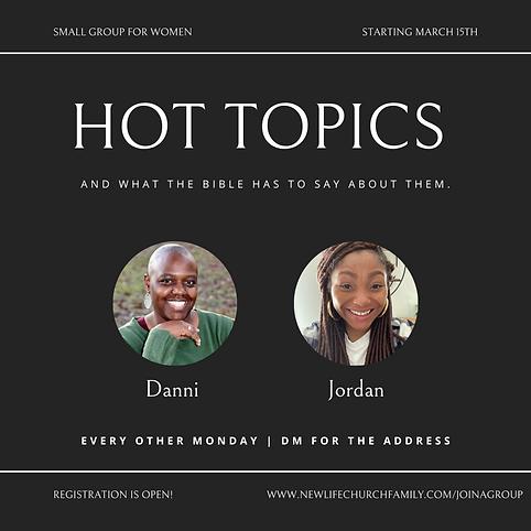 Hot Topics // Dannielle & Jordan