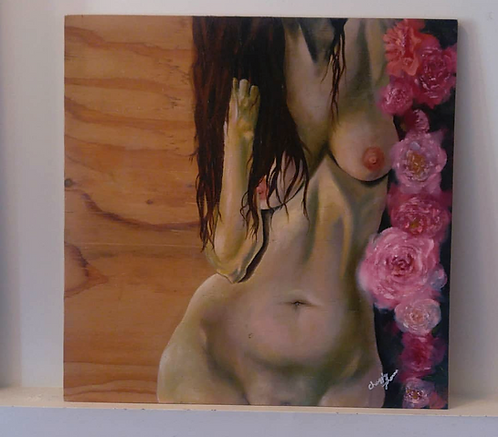 'Nude with Pionies'