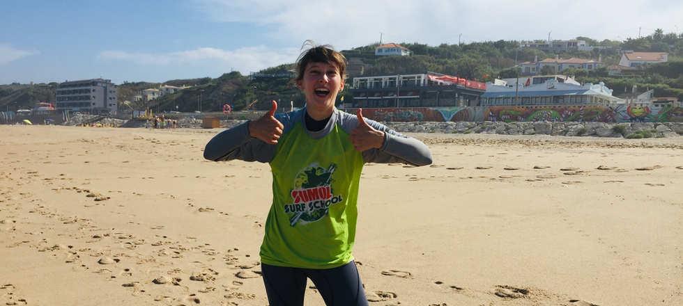 Surf Sintra Lessons beach praia grande