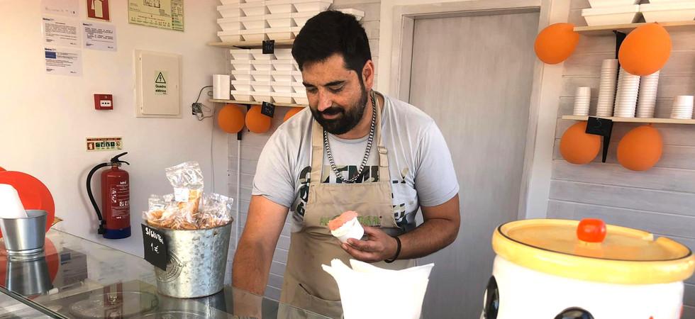 Il Gelataio Artisan ice-cream made in the Aldeia da Praia
