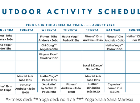 Yoga and Fitness activities in August