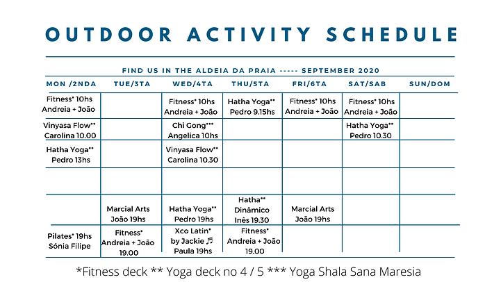 Aldeia Fitness_ Yoga Calendar (September