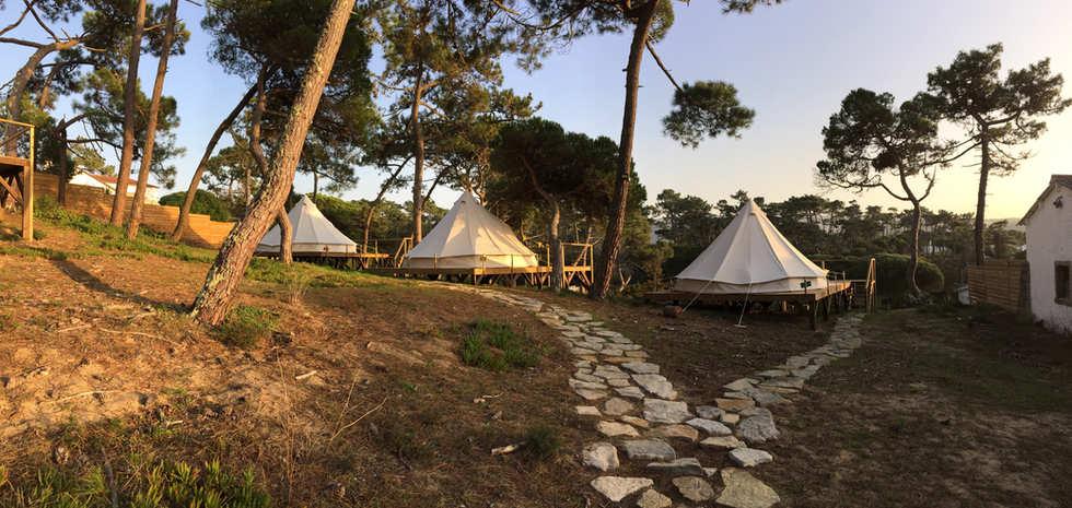 Medidation decks at the Aldeia da Praia