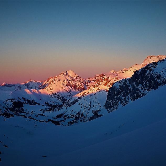 Sonnenuntergang im Iffigental
