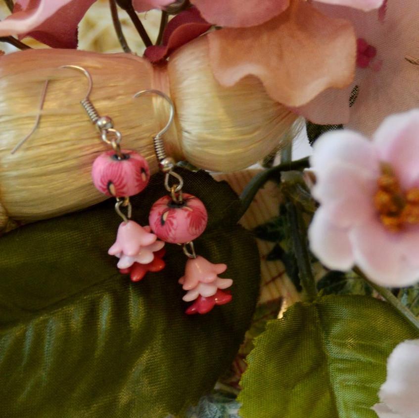 Flower Child - silver tone hooks