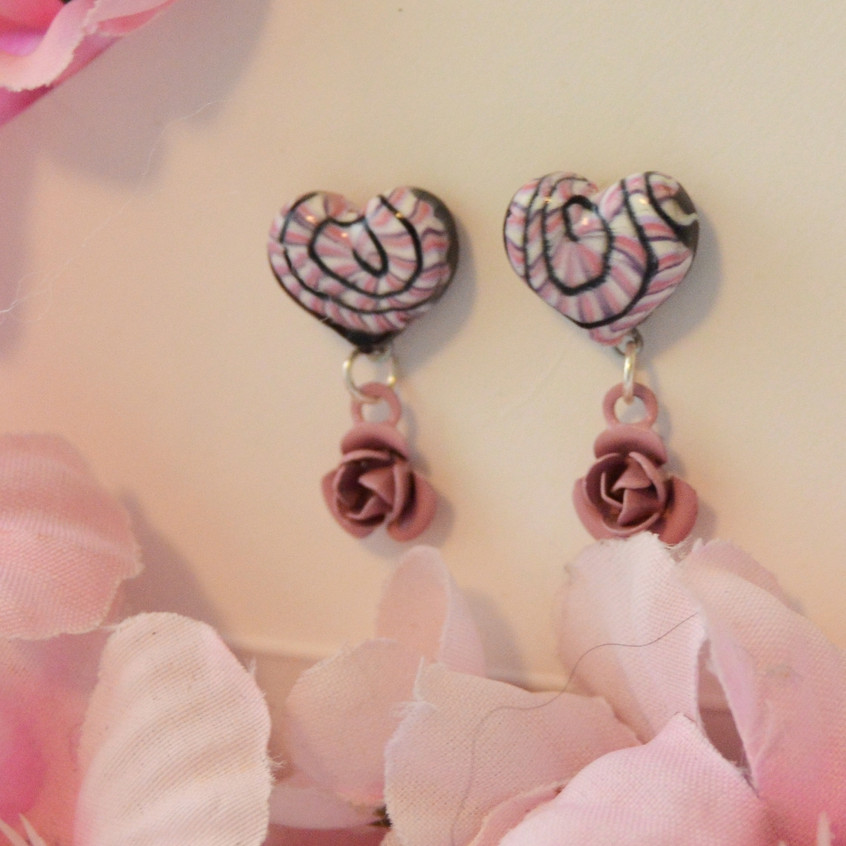 Lovely Rose - clay and metal - POSTS