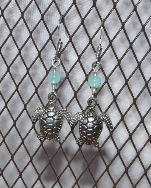 under the sea - silver tone hooks