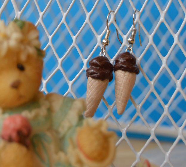 sweet treats - clay - silver tone hooks