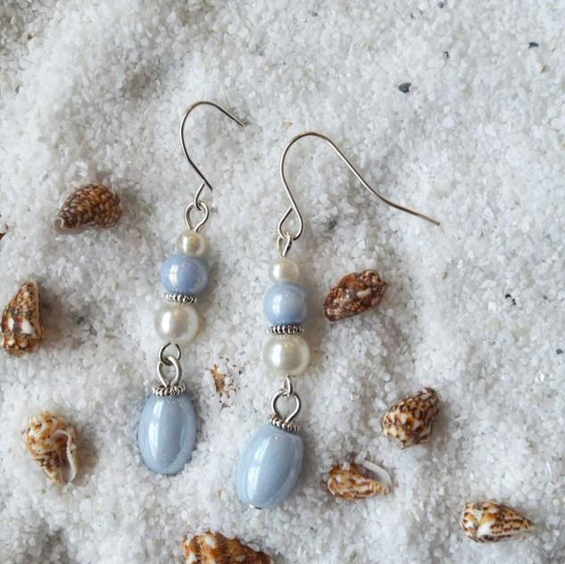 Seaside Dreams - silver tone hooks