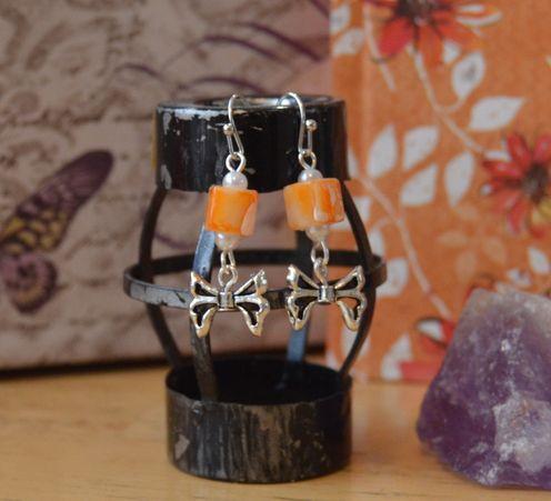 Merry little Marigold - silver tone hooks
