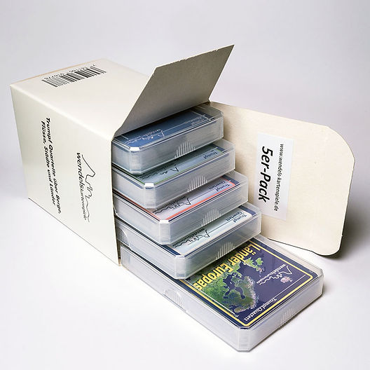 5 Quartett von Wendels Kartenspiele in passender Schachtel ideal zum Verschenken: Hier online kaufen