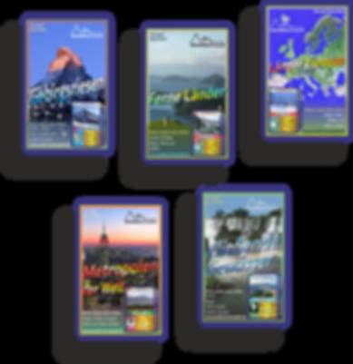 Wendels Kartenspiele 5er-Pack: Trumpf Quartette über Berge, Flüsse, Städte und Länder