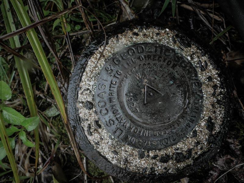Geodetic marker on the top of Pu'u Waiahila'hila