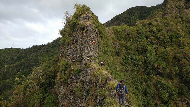 Narrow rock face