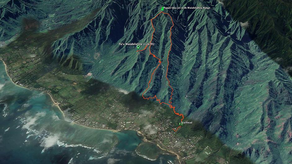 Google earth image of hunger explorer trip