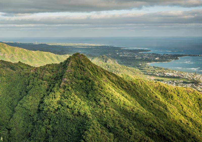 Pu'u Waiahilahila mountain peak