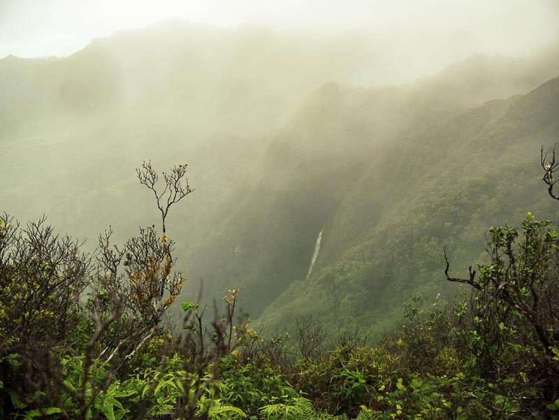 waterfall in the northern Ko'olau mountains