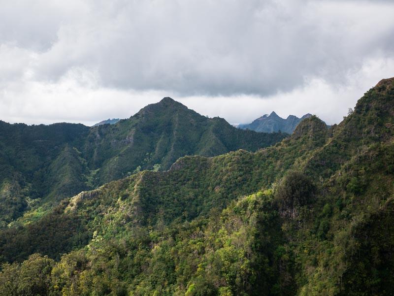 Waianae mountains from Hobbs ridge