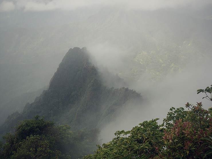 True manamana peak in the mist