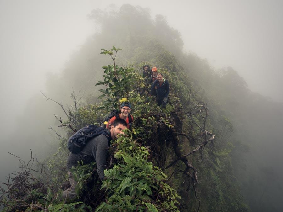 hikers on kalahaku teeth