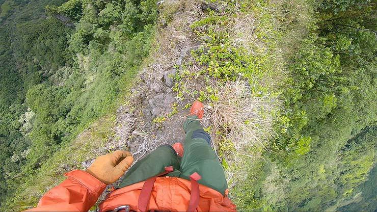 narrow ridge line Oahu