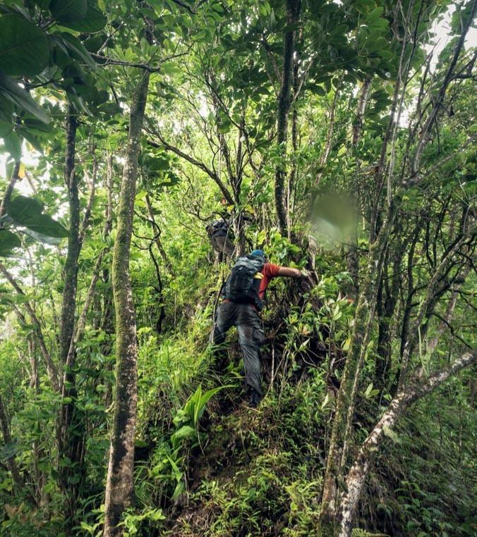 hiking up kalahaku