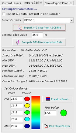 Import Page incl Colours