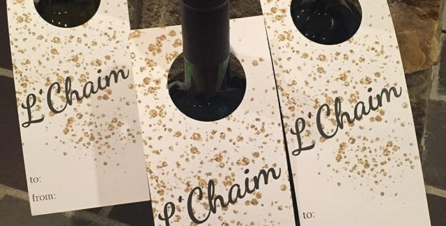 l'chaim wine tag