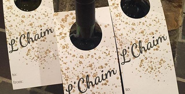 l'chaim wine tag