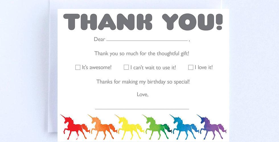 Rainbow Unicorns - Boxed Set of 10